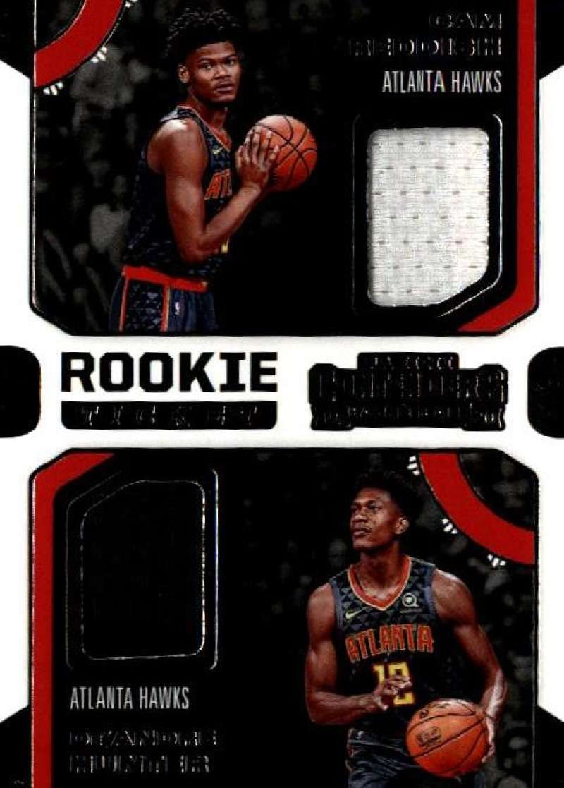 2019-20 Panini Contenders Rookie Ticket Dual Swatches