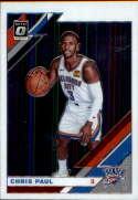 2019-20 Donruss Optic Basketball #103 Chris Paul Oklahoma City Thunder  Official Panini NBA Trading Card
