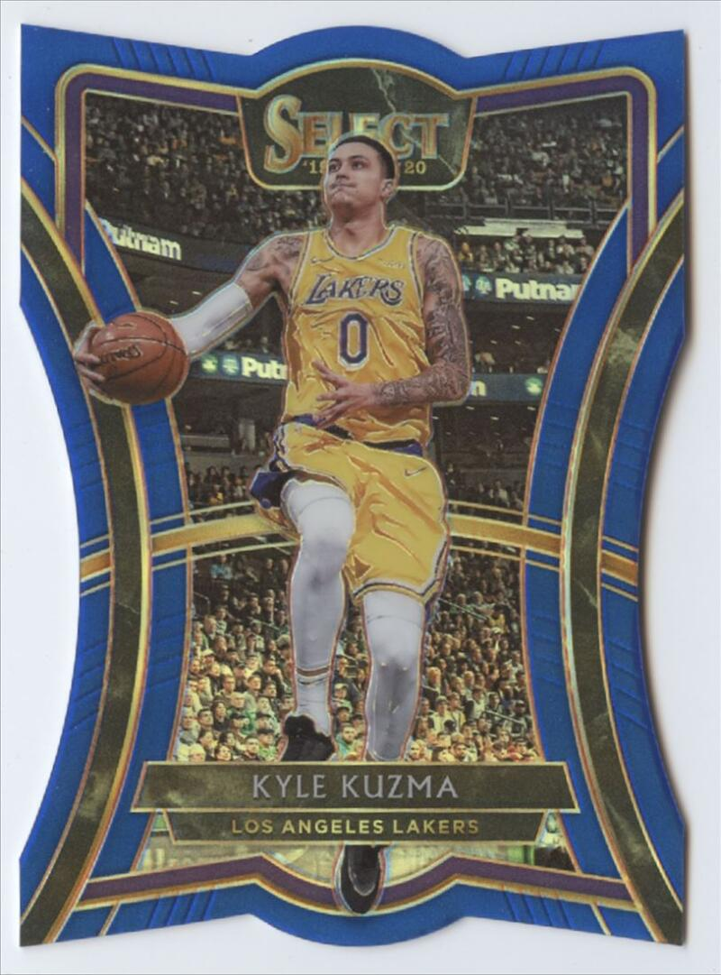 2019-20 Panini Select Blue Prizms Die Cut