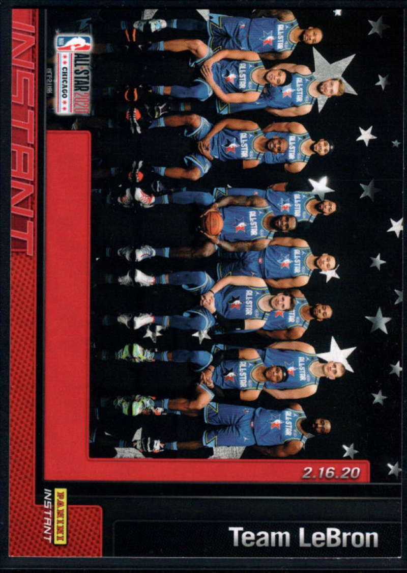 2019-20 Panini Instant NBA All Star 2020 Chicago #13 Team Lebron Print Run 1 of 140  Official Basketball Card