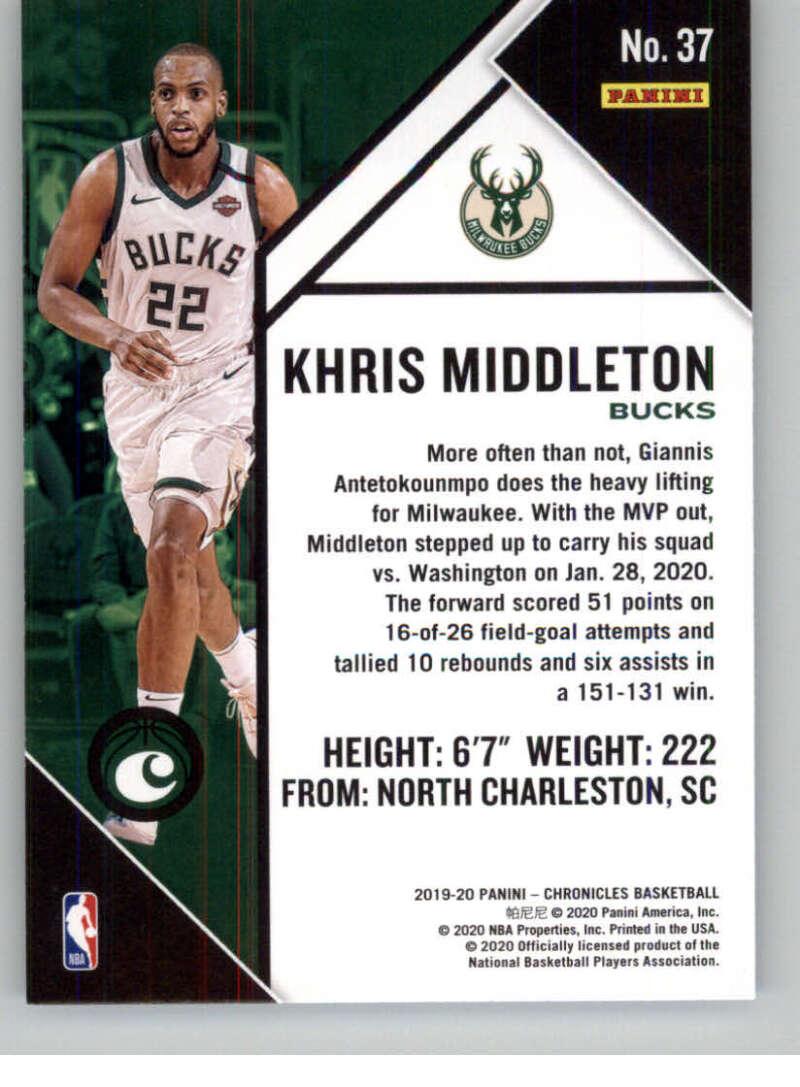 2019-20 Chronicles #37 Khris Middleton ...