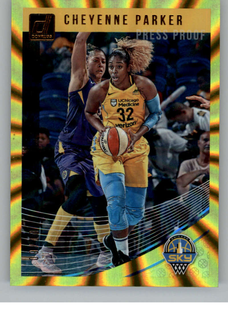 2019 Donruss WNBA Press Proof Gold Laser