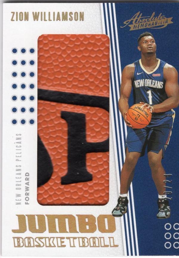 2019 Panini Absolute Jumbo Basketball Spalding Name