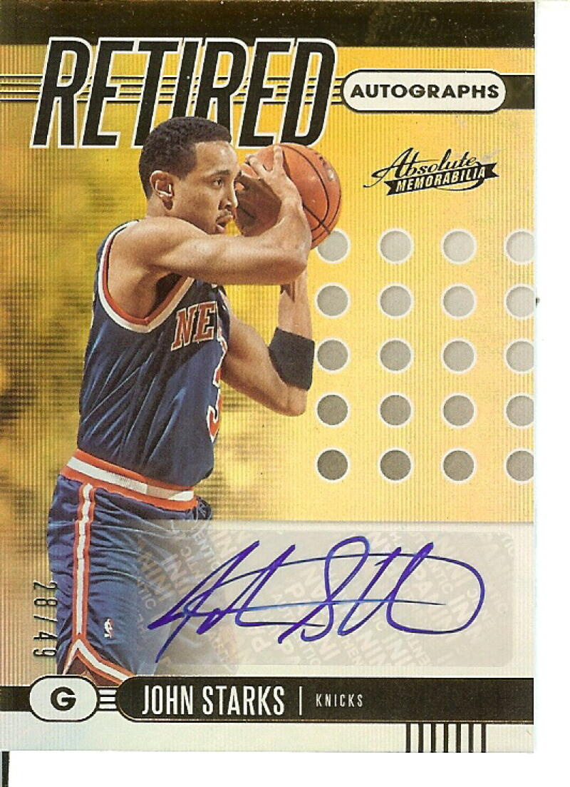2019 Panini Absolute Retired Autographs Level 1