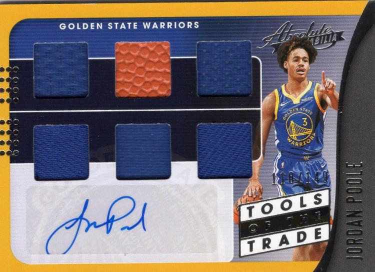 2019 Panini Absolute Tools of the Trade Six Swatch Signatures Level 1
