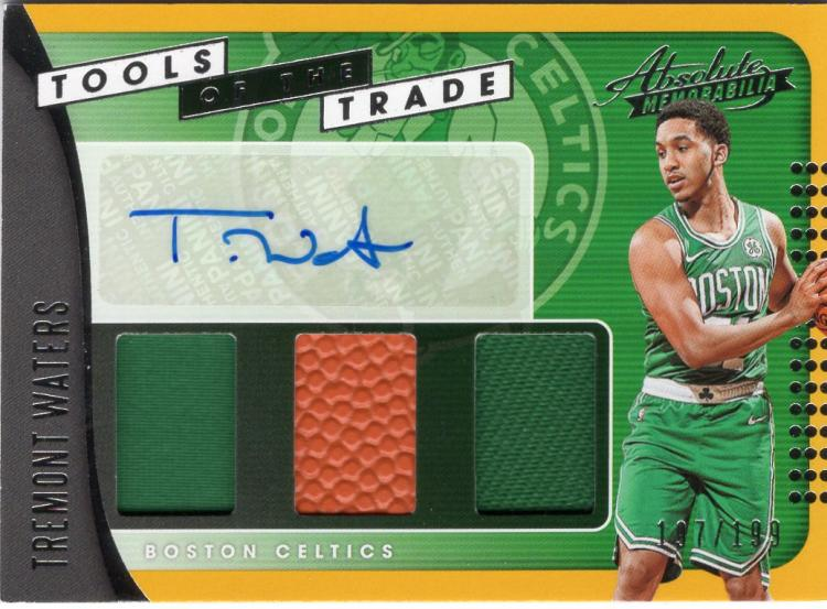 2019 Panini Absolute Tools of the Trade Three Swatch Signatures Level 1