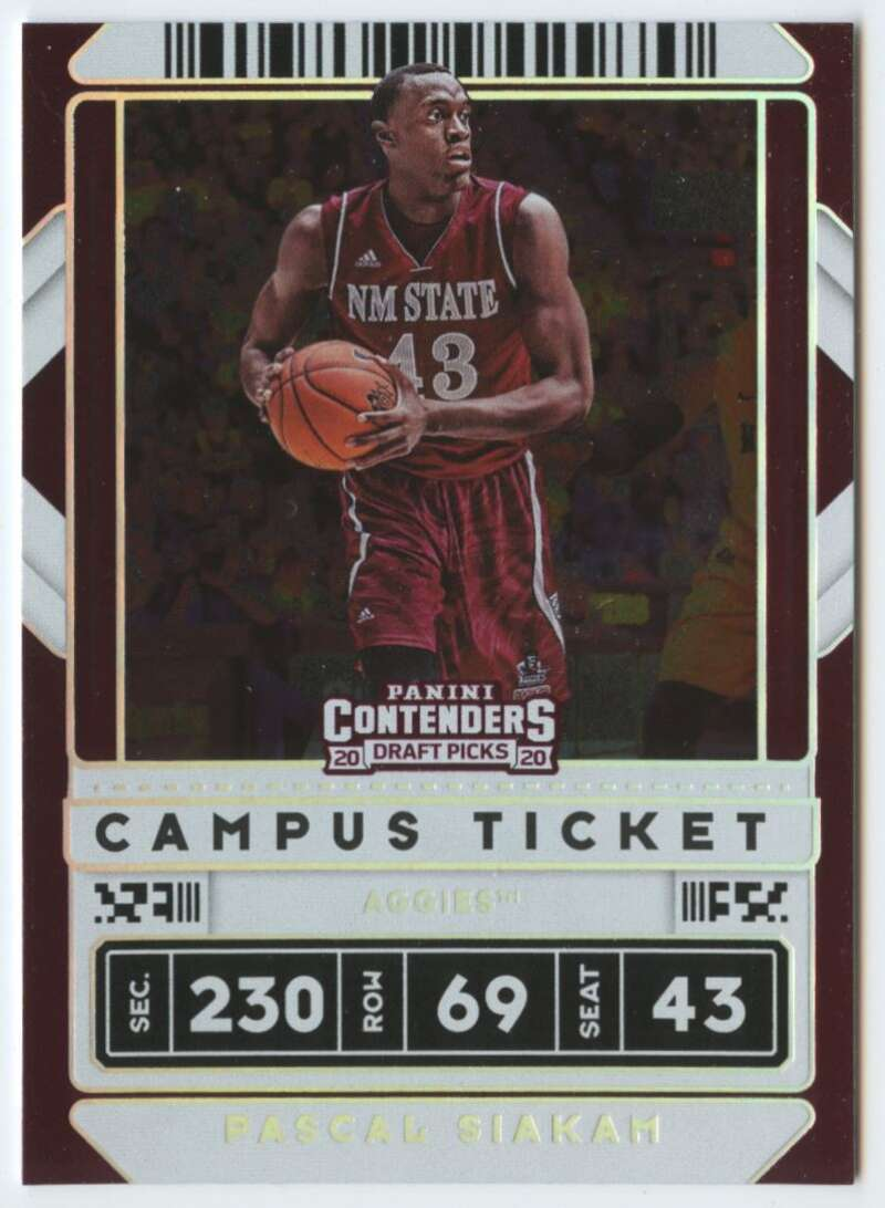 2020-21 Panini Contenders Draft Picks Campus Ticket