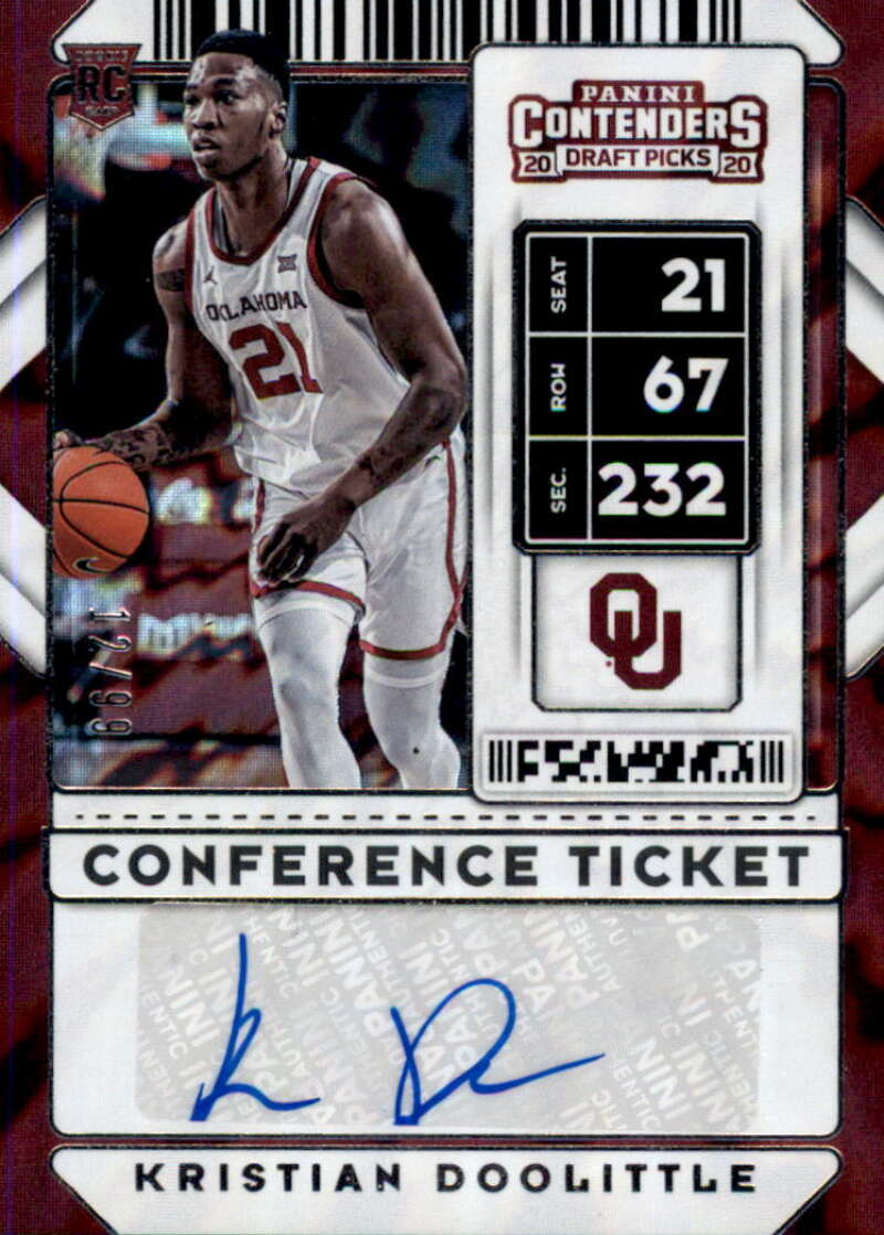 2020-21 Panini Contenders Draft Picks Conference Ticket Stickers Autographs