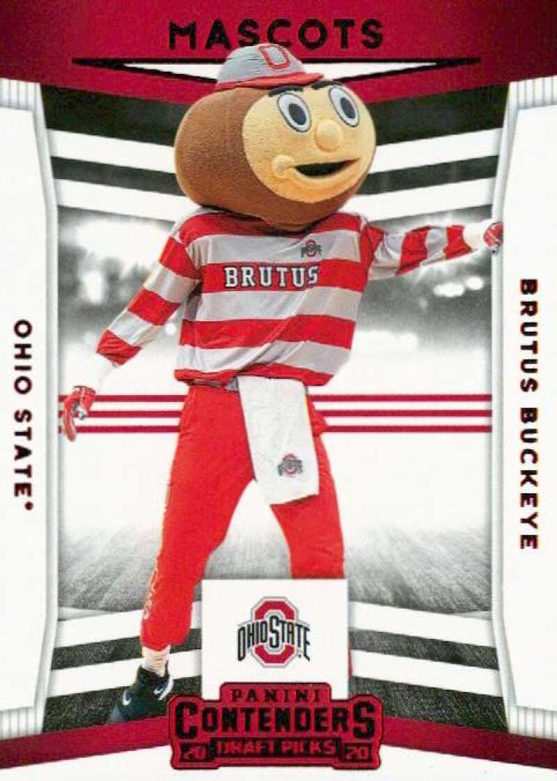 2020-21 Panini Contenders Draft Picks Mascots Red