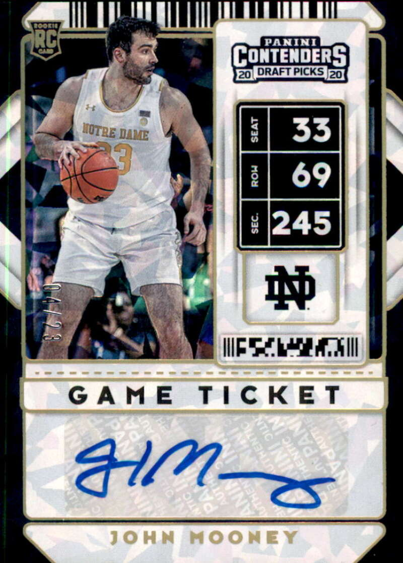 2020-21 Panini Contenders Draft Picks Prospect Game Ticket Stickers Autographs Gold Cracked Ice