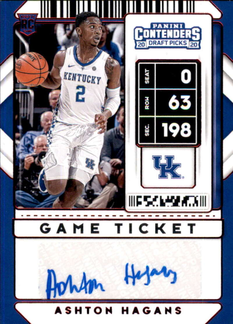 2020-21 Panini Contenders Draft Picks Prospect Game Ticket Stickers Autographs Variation Red