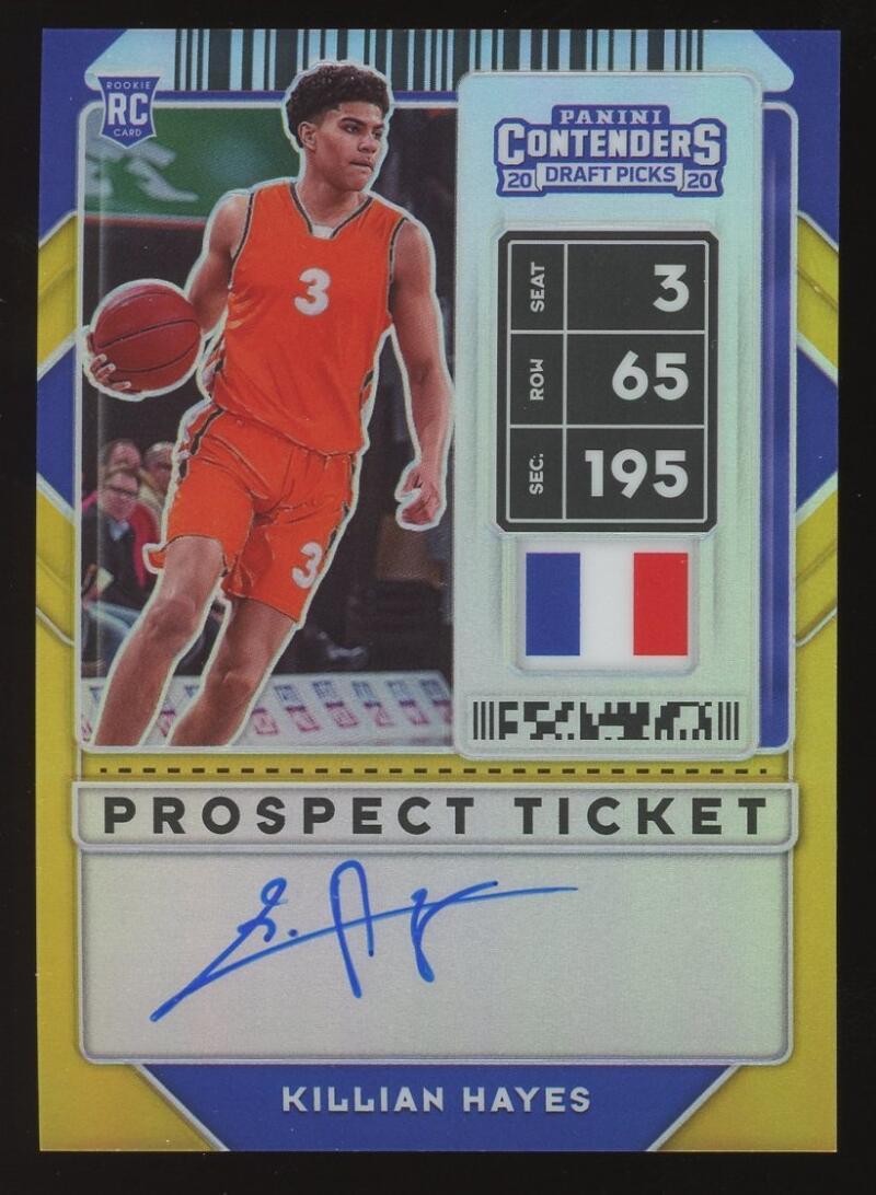 2020-21 Panini Contenders Draft Picks Prospect Ticket Premium RPS Edition Autographs Gold
