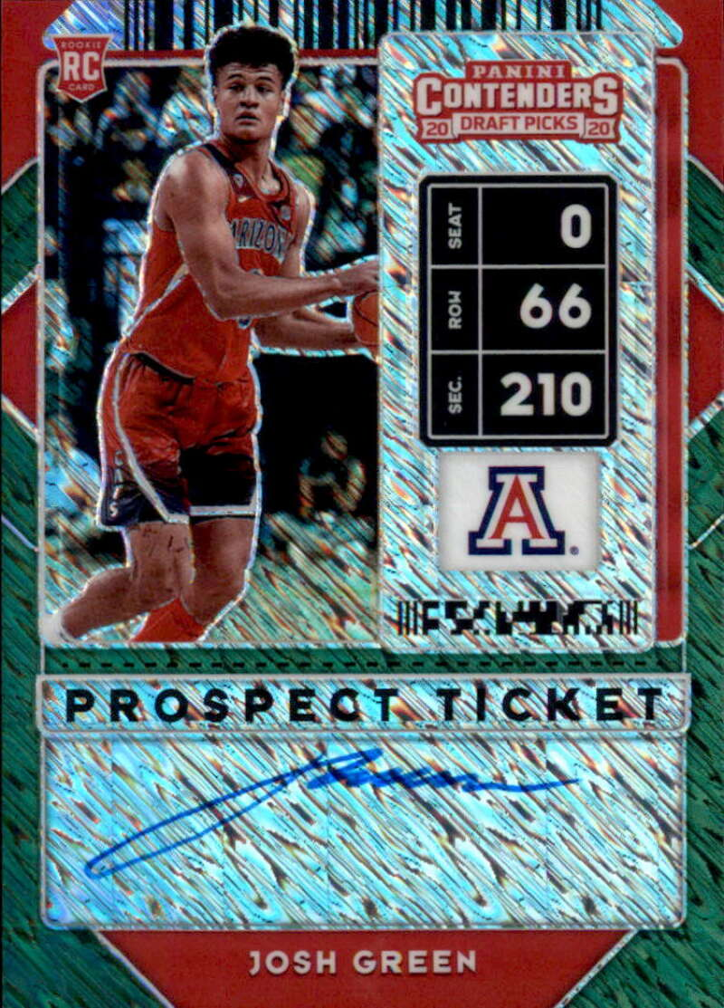 2020-21 Panini Contenders Draft Picks Prospect Ticket Premium RPS Edition Autographs Green Shimmer