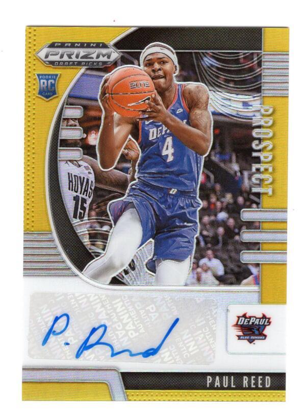 2020-21 Panini Prizm Draft Picks Prospect Autographs Gold