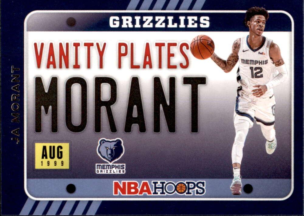 2020-21 Panini Hoops Vanity Plates