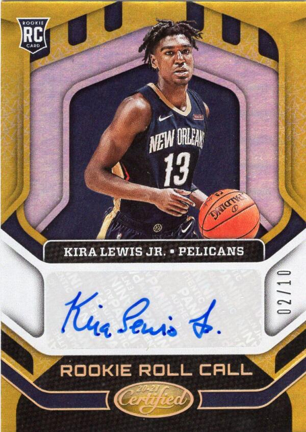 2020-21 Panini Certified Rookie Roll Call Gold