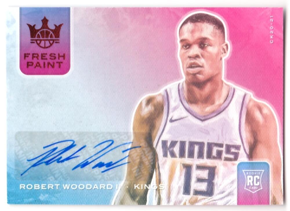 2020-21 Panini Court Kings Fresh Paint Autographs Ruby