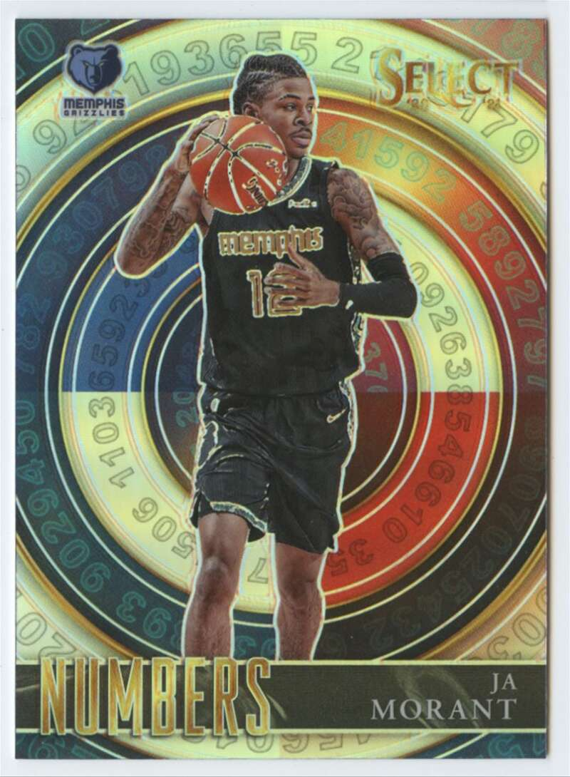 2020-21 Panini Select Numbers Silver