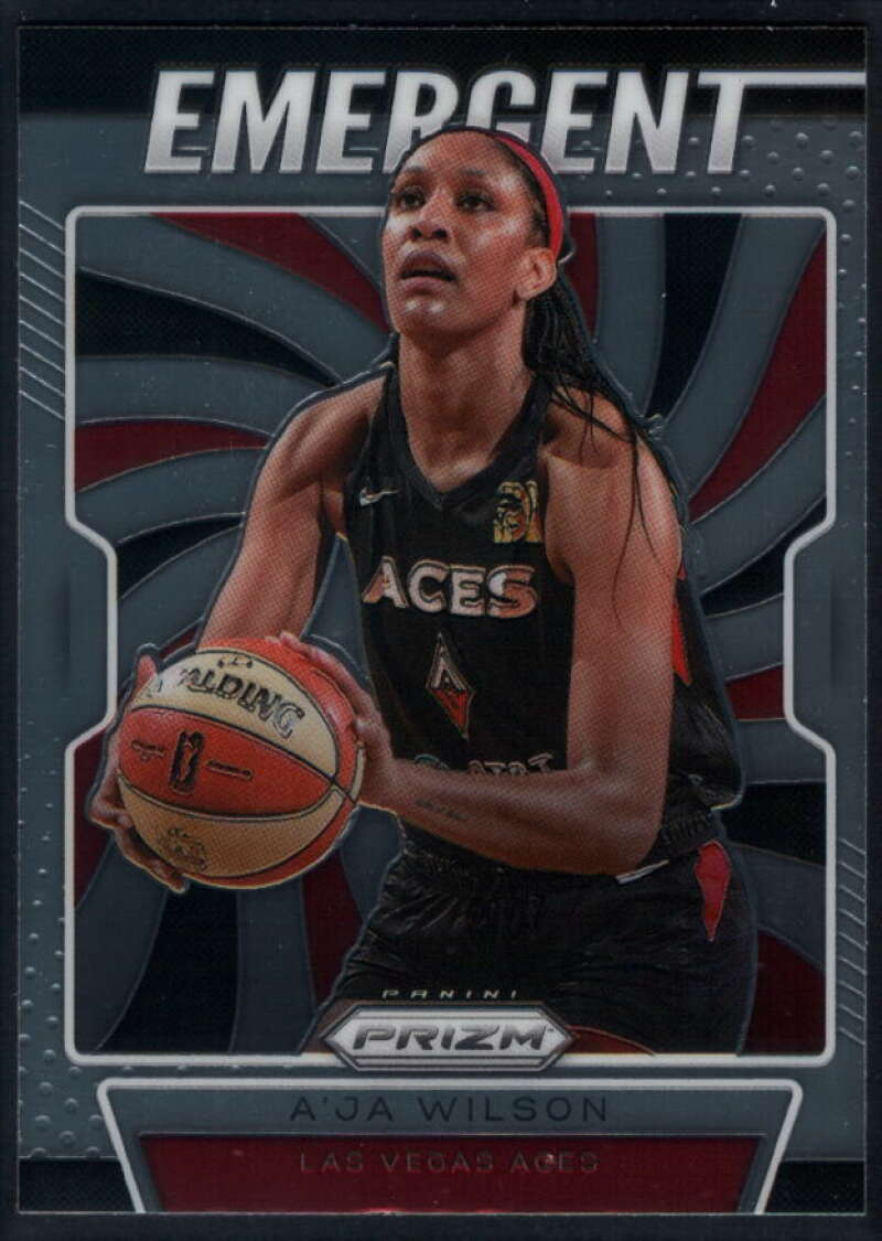2020 Panini Prizm WNBA Emergent #4 A'ja Wilson Las Vegas Aces  Basketball Trading Card
