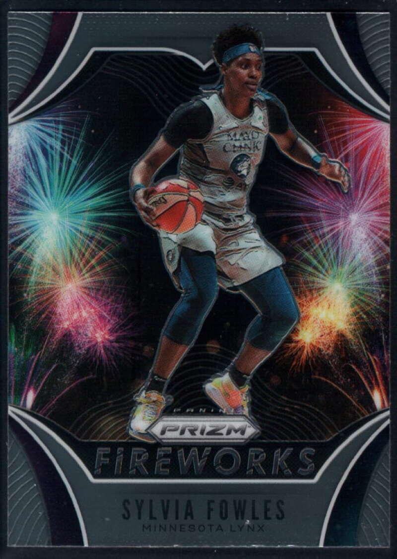 2020 Panini Prizm WNBA Fireworks #8 Sylvia Fowles Minnesota Lynx  Basketball Trading Card