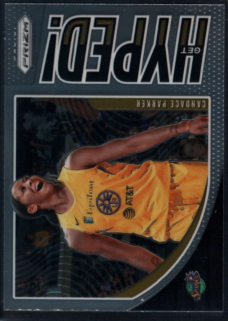 2020 Panini Prizm WNBA Get Hyped #2 Candace Parker Los Angeles Sparks  Basketball Trading Card