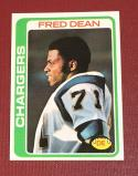 1978 Topps #217 Fred Dean VG/EX Very Good/Excellent RC Rookie
