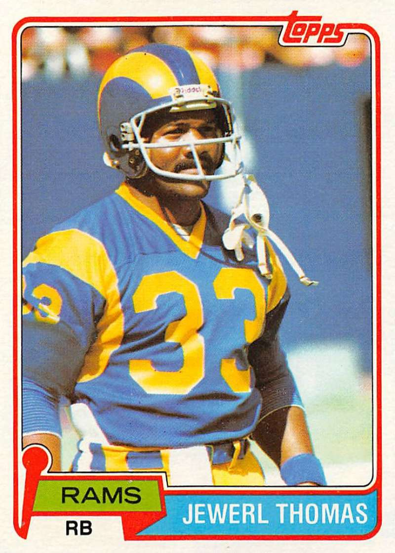 1981 Topps #98 Jewerl Thomas EX Excellent RC Rookie