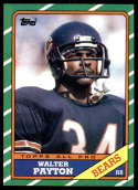 1986 Topps #11 Walter Payton EX/NM Chicago Bears
