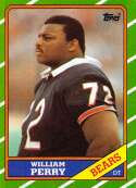 1986 Topps Football #20 William Perry RC Rookie Chicago Bears  Official NFL Trading Card (Stock Photo Used - Near Mint or better Guaranteed)