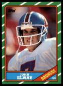 1986 Topps #112 John Elway EX/NM Denver Broncos