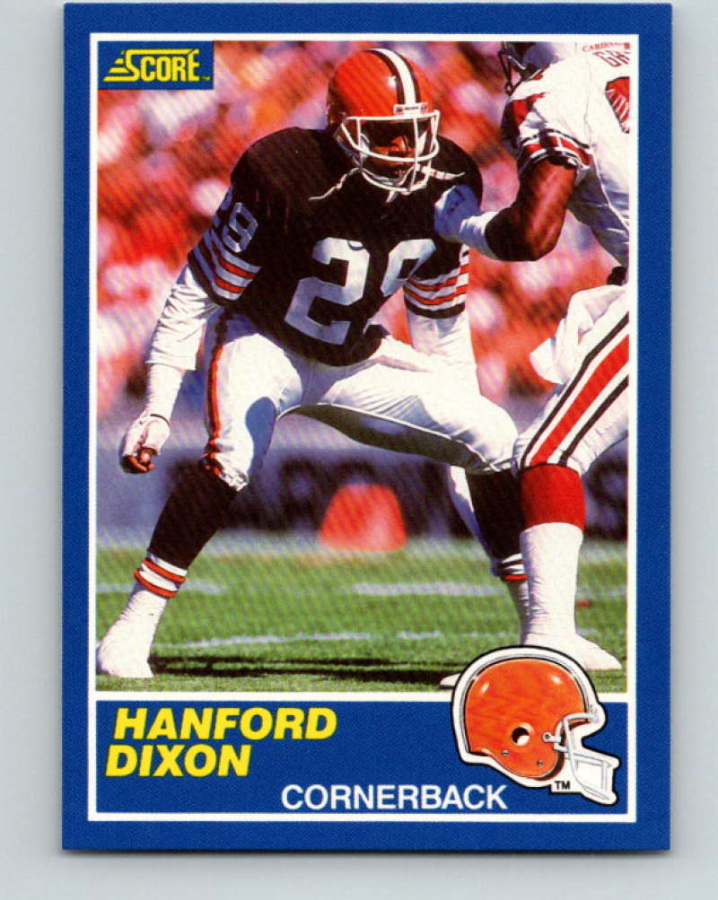 1989 Score Football #59 Hanford Dixon Cleveland Browns Official NFL Trading Card From the Premiere Score Set