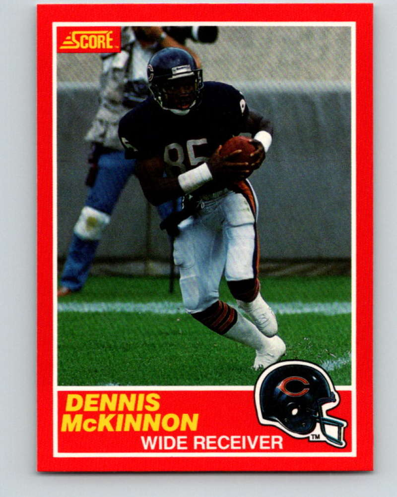 1989 Score Football #121 Dennis McKinnon Chicago Bears Official NFL Trading Card From the Premiere Score Set