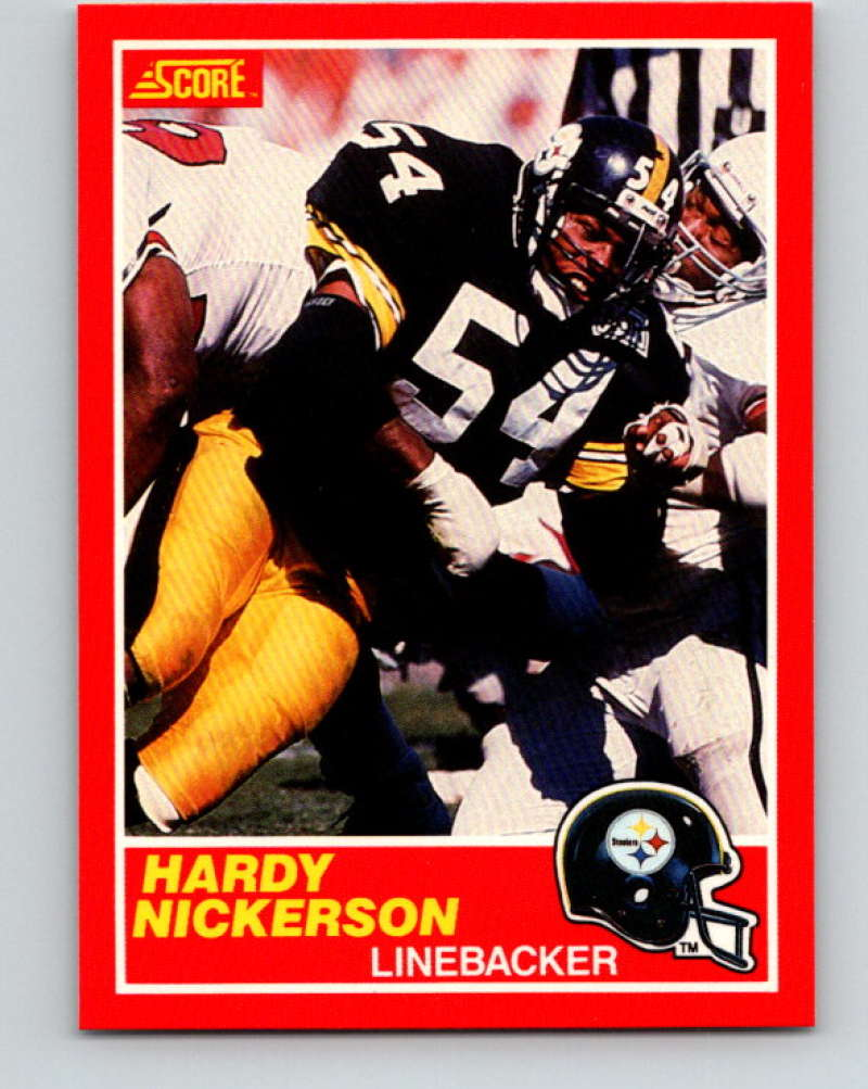 1989 Score Football #199 Hardy Nickerson RC Rookie Card Pittsburgh Steelers Official NFL Trading Card From the Premiere