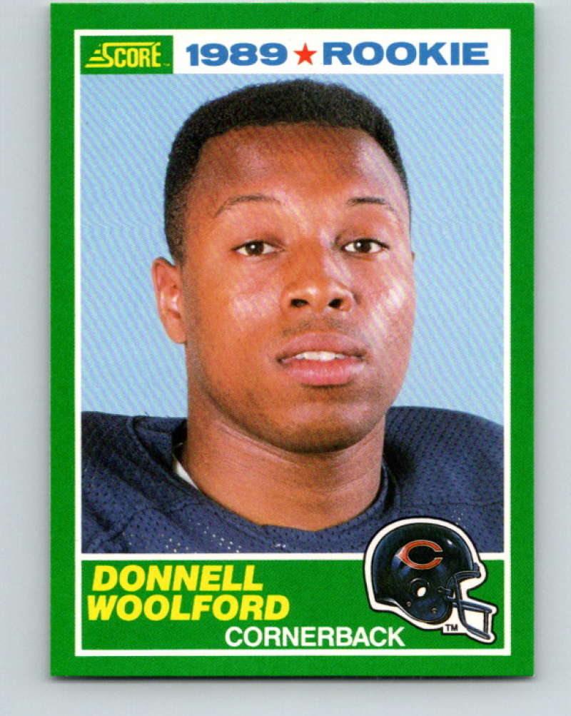 1989 Score Football #247 Donnell Woolford RC Rookie Card Chicago Bears Official NFL Trading Card From the Premiere Score