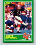 1989 Score Football #290 Scott Norwood RC Rookie Card Buffalo Bills AP Official NFL Trading Card From the Premiere Score