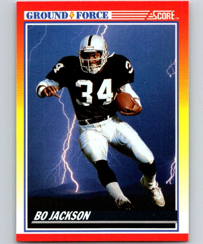 1990 Score Football #330 Bo Jackson Los Angeles Raiders Official NFL Trading Card From The Pinnacle Company