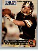 1991 Pro Set World League of American Football #143 Jason Garrett San Antonio Riders  Official WLAF Trading Card