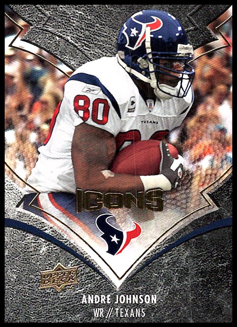2008 Upper Deck Icons #39 Andre Johnson NM-MT Houston Texans  Official Licensed NFL Football Trading Card