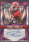 2015 Panini Prizm Collegiate Draft Picks Draft Picks Autographs Purple Flash Prizms #146 Todd Gurley Georgia Bulldogs (RC - Rookie Card) (Autographed)