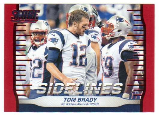 2016 Score Sidelines Red #2 Tom Brady NM-MT New England Patriots
