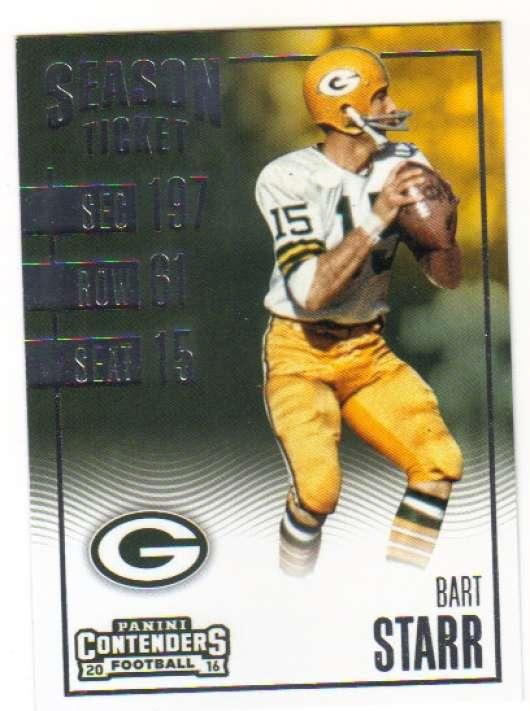 2016 Contenders Season Ticket #34 Bart Starr NM-MT Packers