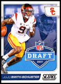 2017 Score NFL Draft #5 JuJu Smith-Schuster USC Trojans Rookie RC Football Trading Card made by Panini