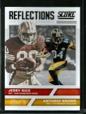2017 Score Reflections #4 Antonio Brown/Jerry Rice NM+