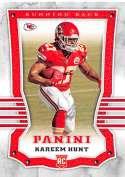 2017 Panini #119 Kareem Hunt RC Rookie Kansas City Chiefs