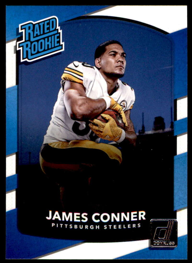2017 Donruss #322 James Conner Pittsburgh Steelers Rated Rookie