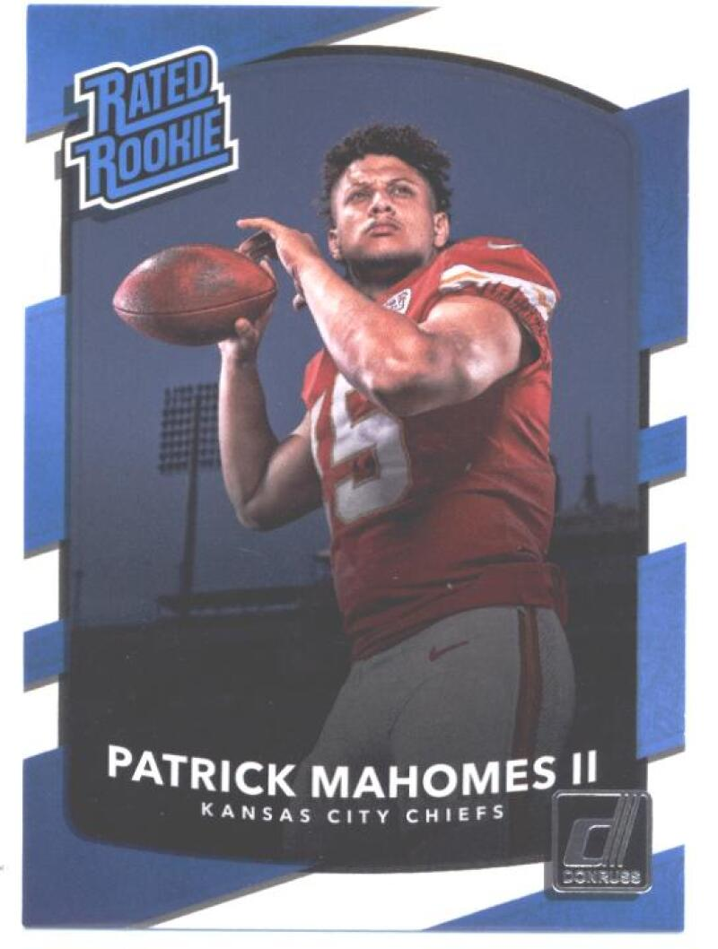 2017 Donruss #327 Patrick Mahomes II Kansas City Chiefs Rated Rookie