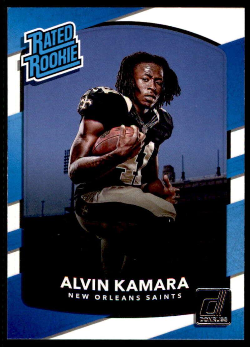 2017 Donruss #349 Alvin Kamara Rated Rookie