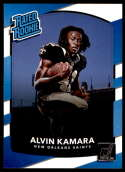 2017 Donruss #349 Alvin Kamara New Orleans Saints Rated Rookie