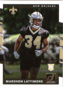 2017 Donruss #386 Marshon Lattimore RC Rookie New Orleans Saints