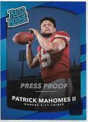 2017 Donruss Press Proof Blue #327 Patrick Mahomes II Kansas City Chiefs Rated Rookie NM-MT NFL